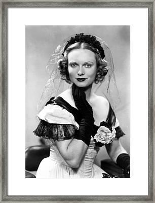 Anna Neagle, Ca. Late 1930s Framed Print by Everett