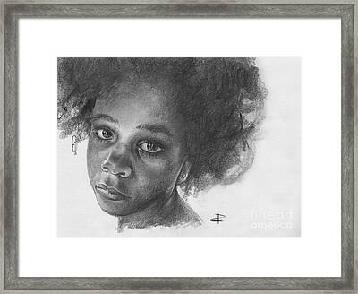 Framed Print featuring the drawing Anna by Paul Davenport