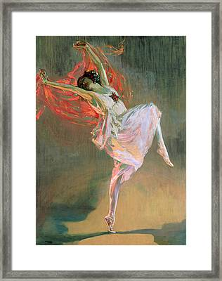 Anna Pavlova, 1910 Framed Print