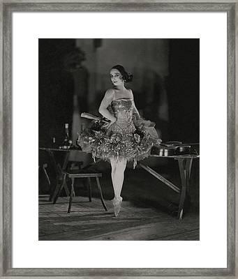 Anna Pavlova In Her Ballet Costume Framed Print by James Abbe
