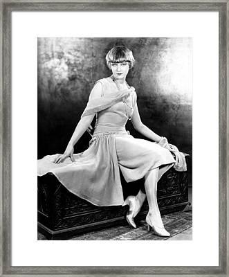 Anna Q. Nilsson, Ca. 1926 Framed Print by Everett
