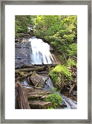 Anna Ruby Falls - Georgia - 4 Framed Print by Gordon Elwell