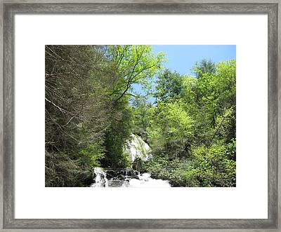 Framed Print featuring the photograph Anna Ruby Falls Helen Ga 01 by Brian Johnson