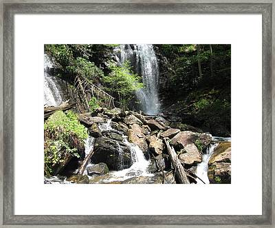 Framed Print featuring the digital art Anna Ruby Falls Helen Ga 03 by Brian Johnson