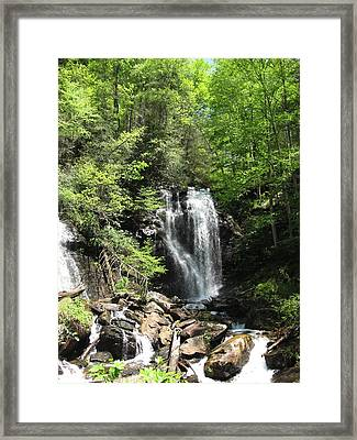 Framed Print featuring the photograph Anna Ruby Falls Helen Ga 04 by Brian Johnson