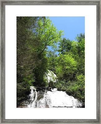 Framed Print featuring the digital art Anna Ruby Falls Helen Ga 05 by Brian Johnson