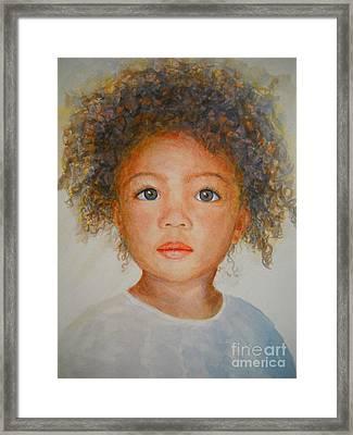 Anna Framed Print by Terri Maddin-Miller