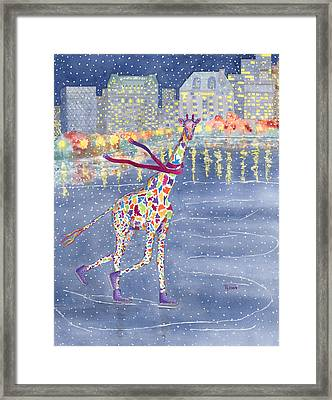Annabelle On Ice Framed Print by Rhonda Leonard