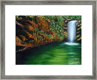 Annadale Waterfall Framed Print