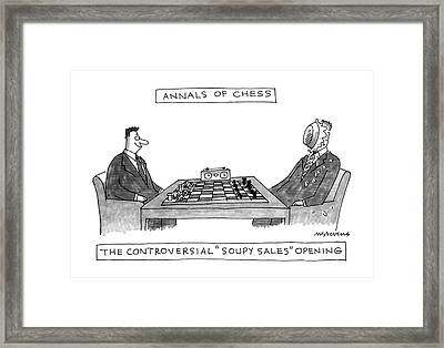 Annals Of Chess Framed Print