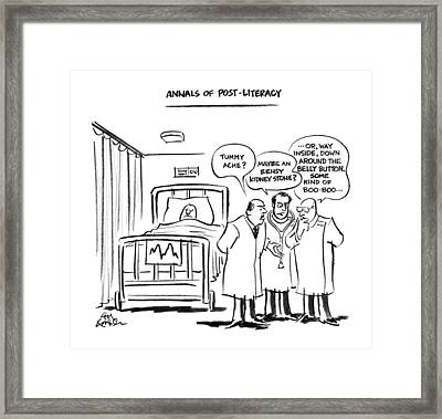Annals Of Post-literacy Framed Print by Ed Fishe