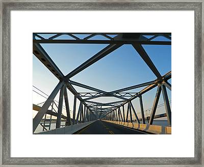 Annapolis Bay Bridge At Sunrise Framed Print