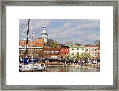 Annapolis Downtown Harbor Framed Print