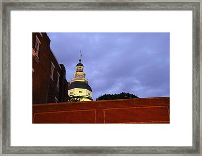 Annapolis Md - 121218 Framed Print by DC Photographer