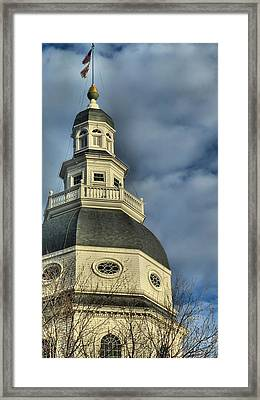 Annapolis Statehouse Framed Print by Jennifer Wheatley Wolf