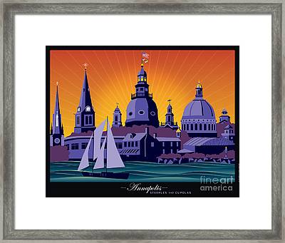 Annapolis Steeples And Cupolas Framed Print