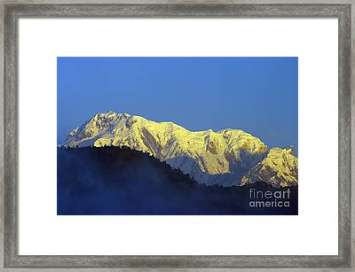 Framed Print featuring the photograph Annapurna Dawn by Jacqi Elmslie