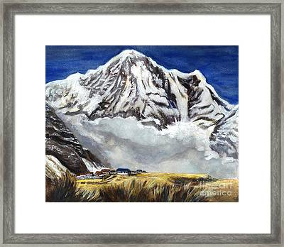 Annapurna L Mountain In Nepal Framed Print