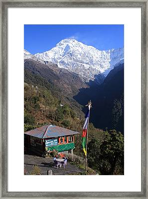 Annapurna South, The Himalayas, Nepal Framed Print