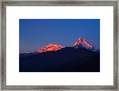 Annapurna South Massif Framed Print by FireFlux Studios