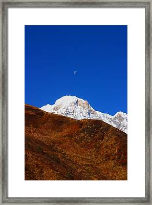 Annapurna South Moon Rise Framed Print