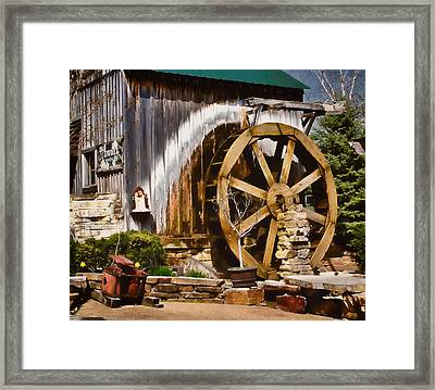 Framed Print featuring the photograph Anna's Garden Cafe by Greg Jackson