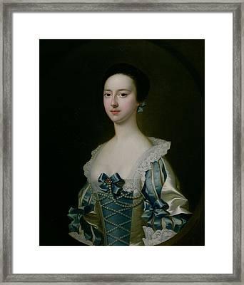 Anne Bateman, Later Mrs. John Gisbourne, 1755 Framed Print