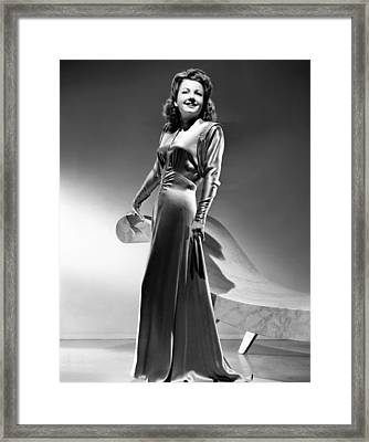 Anne Baxter, Ca. Early 1940s Framed Print
