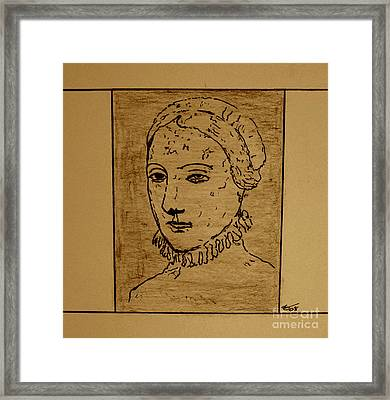 Framed Print featuring the drawing Anne by Bill OConnor