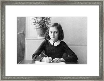 Anne Frank Framed Print by Unknown