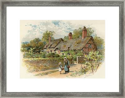 Anne Hathaway's Cottage At Shottery Framed Print by William Stephen Coleman