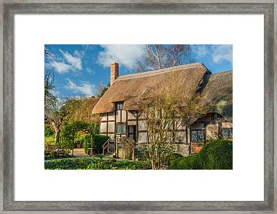 Anne Hathaways Cottage Framed Print by David Ross
