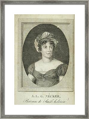Anne Louise Germaine Necker Framed Print by British Library