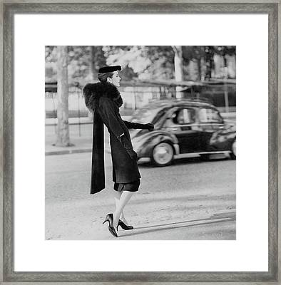 Anne St. Marie Standing In A Street Framed Print