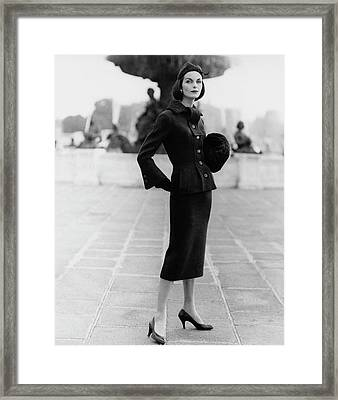 Anne St. Marie Wearing A Fath Suit Framed Print