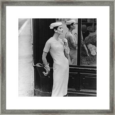 Anne St. Marie Wearing Givenchy Framed Print by Henry Clarke