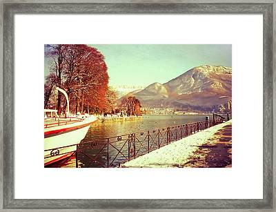 Annecy Golden Fairytale. France Framed Print by Jenny Rainbow