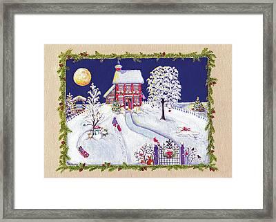 Anne's Snow House Framed Print