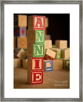 Annie - Alphabet Blocks Framed Print