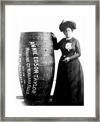 Annie Edson Taylor, American Daredevil Framed Print