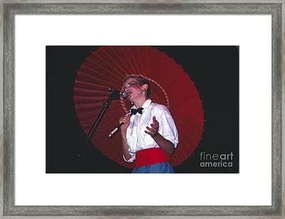 Annie Lennox Framed Print by David Plastik