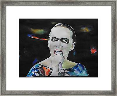 Annie Lennox Framed Print by Lucia Hoogervorst