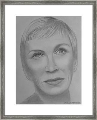 Annie  Lennox Framed Print by Paul Blackmore