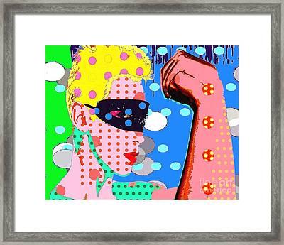 Annie Lennox Framed Print by Ricky Sencion