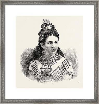 Annie Louise Cary Was Born In Wayne Framed Print by American School