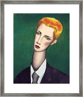 Annie Lennox Modigliani Framed Print by Ixie