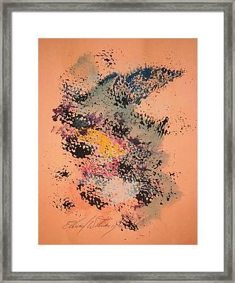Annie On Stage Framed Print by Edward Wolverton