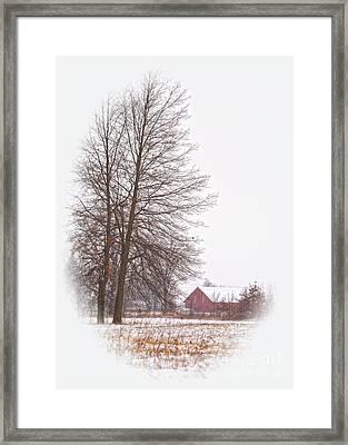 Annie's Barn Framed Print by Pamela Baker