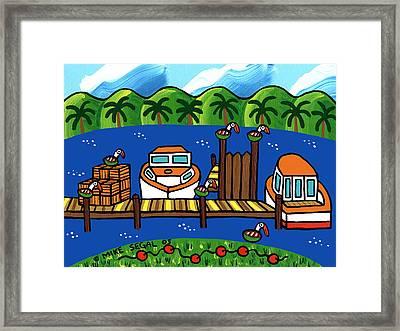 Annie's Dock - Cedar Key Framed Print