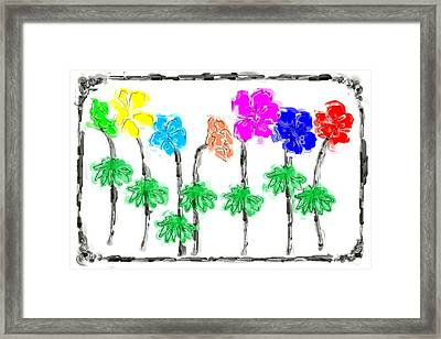Annie's Flowers Framed Print